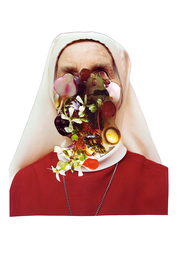 Grande Bouffe 5, Collage,10 x 7 inches (approx), 2010, $650