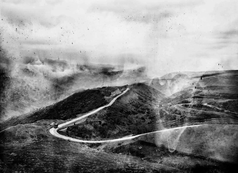 The Road Split, Black Garden Series, Split Toned Gelatin Silver Print, 28 x 38 inches, 2011, Edition of 8, $3000.