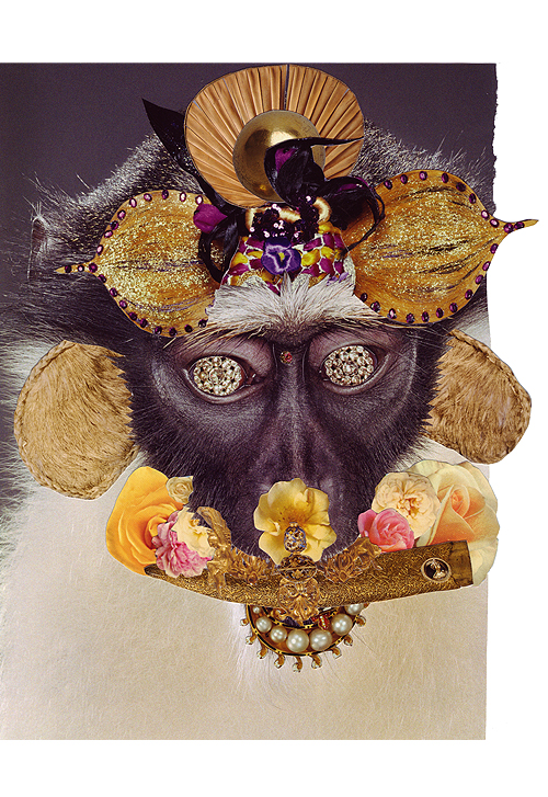 Monkey 5, Collage, 10 x 8 inches (approx), 2011, $650