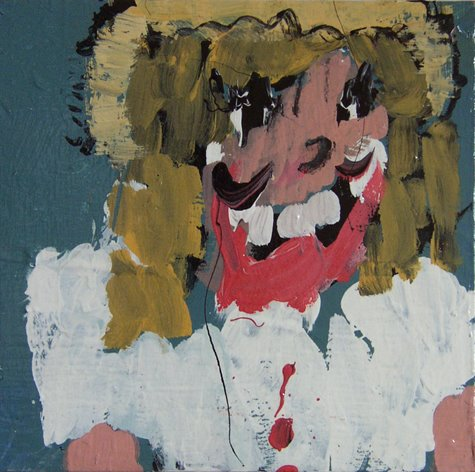Musical Star, Latex paint on wood with acrylic finish, 13 x 13 inches, 2010, $400